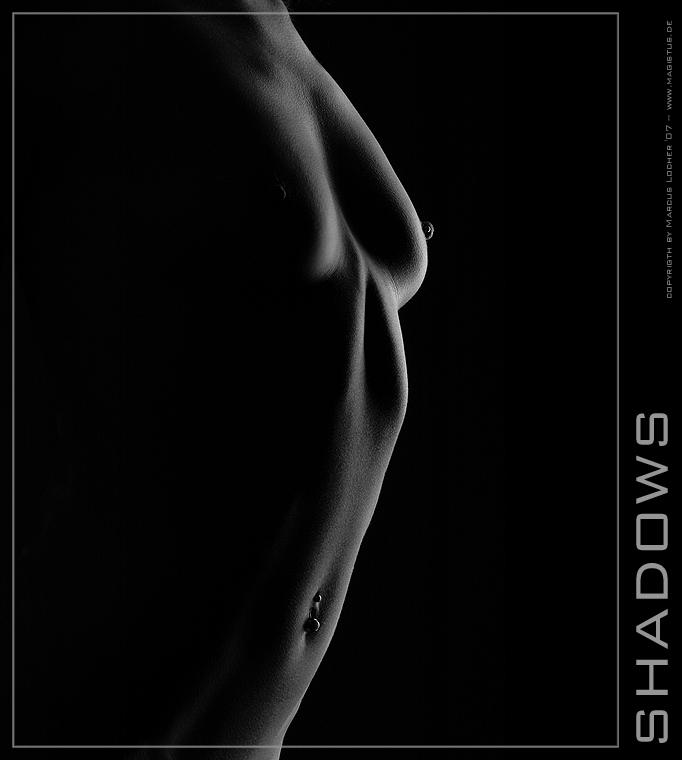 Shadows - Akt Shooting mit Anja G. - Akt Fotos von Marcus Locher