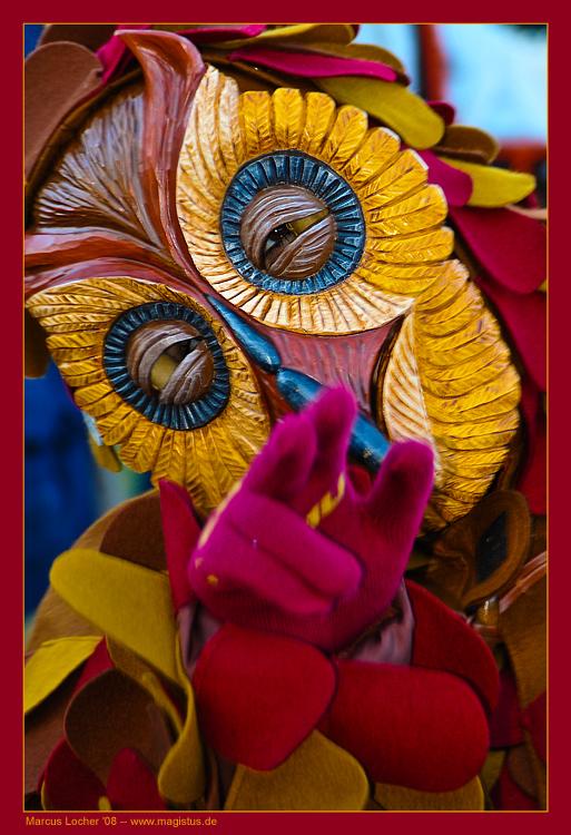 Maske Eule - Fastnach 2008 - Foto von Marcus Locher