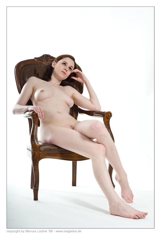 The Chair No. 1 - Nude-Art Shooting with Anna Model by Marcus Locher