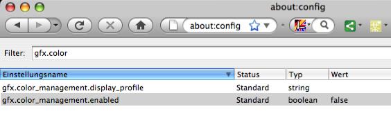 Firefox Screencapture Farbmanagement