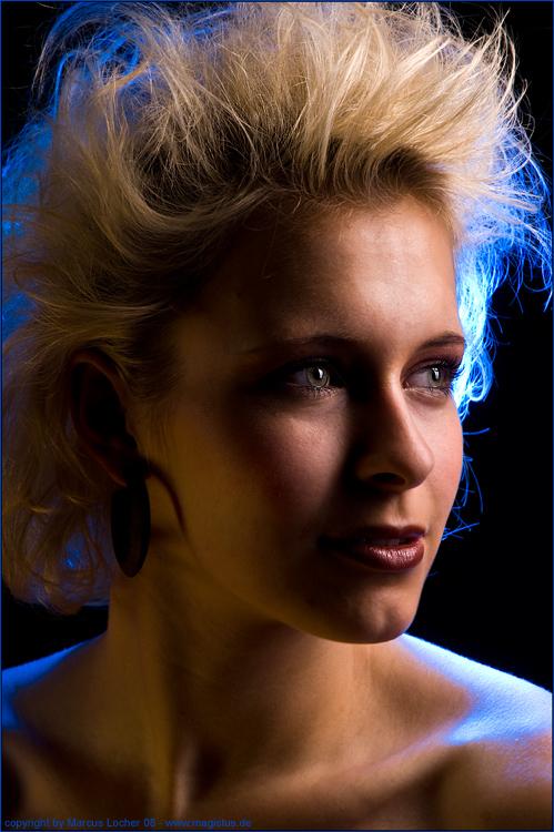 Blue Portrait No. 1 - By Marcus Locher