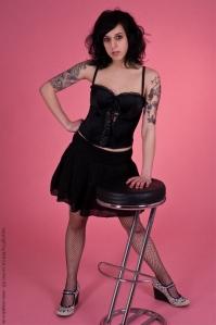 Black in Pink - Portrait