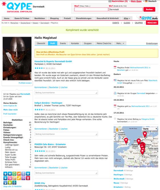 Screenshot Qype
