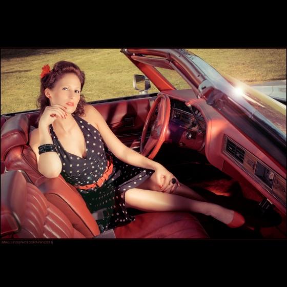 Driving Cadillac - Portrait © by Magistus