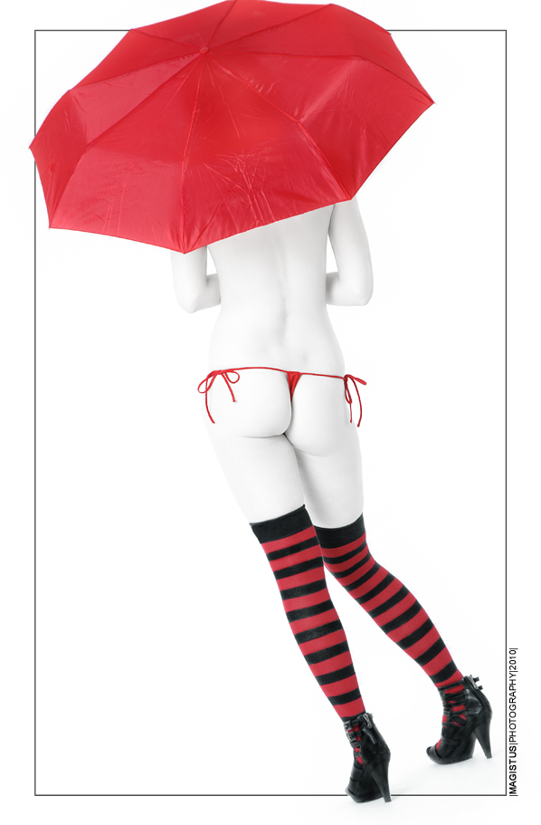 Red Umbrella - Nude Art © by Magistus