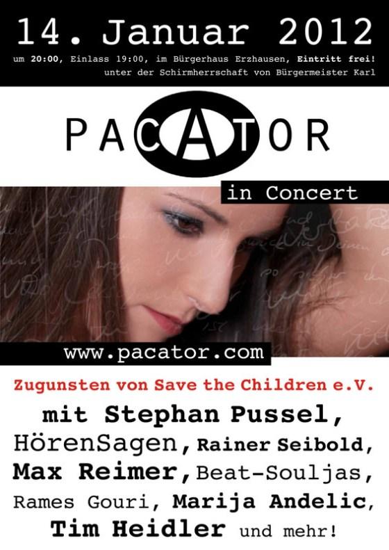 PACATOR in Concert - Plakat