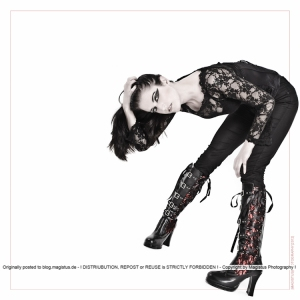 Black Posing - Fashion Photography with model posing in gothic style outfit with very cool boots - Photo  © by Magistus