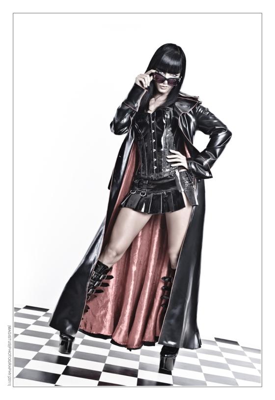 Fetish Fashion - Sexy model wearing latex coat and hot miniskirt - Erotic Fashon Photography by Magistus