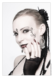 Close-up Portraits with Gothic-Style Make-Up and beautiful model - Photo © by Magistus
