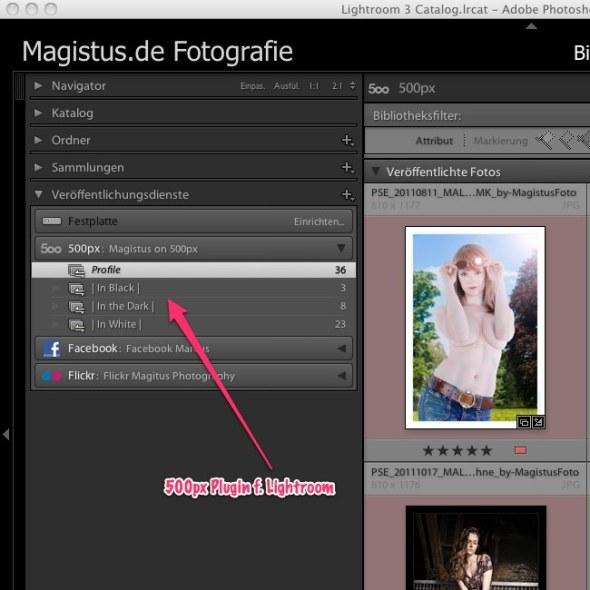 500px bietet ein kostenloses Adobe Lightroom Plugin an.