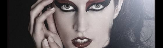Gothic Beauty - Beauty Close-up Portrait with cool Makeup and Gothic Styling - LARGE HEADER © by Magistus
