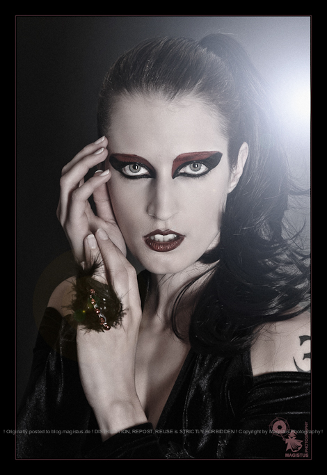 Gothic Beauty - Beauty Close-up Portrait with cool Makeup and Gothic Styling - © by Magistus