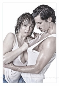 Rough Love - Hot Boy-Girl Shooting with femal model wearing a wet and half ripped of shirt fighting with her lover. - © by Magistus