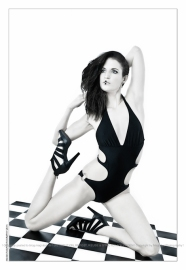 Black Spirit - Monokini Fashion with model posing gracefully in a black monokini - © by Magistus
