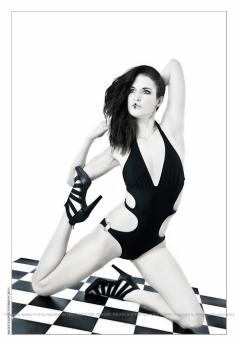 Black Spirit - Monokini Fashion with model posing gracefully in a black monokini - © by Magistus