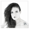 Aum Close-Up - Girl Portrait with Aum Tattoo - © by Magistus