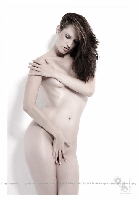 Spiritual Nude - Nude Art Photography with beautiful model covering herself with fantastic posing - © by Magistus