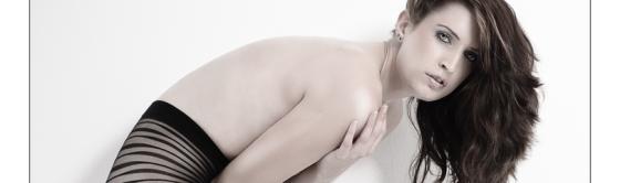 Modern Fashion - Lingerie Fashion Posing wit beautiful half naked model wearing cool fashionable pantyhose - © by Magistus
