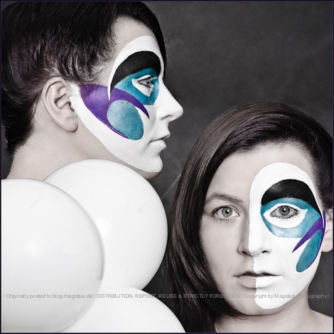 Circles - Facepainting Collage - Painting by ModernSpirit - Photo by Magistus