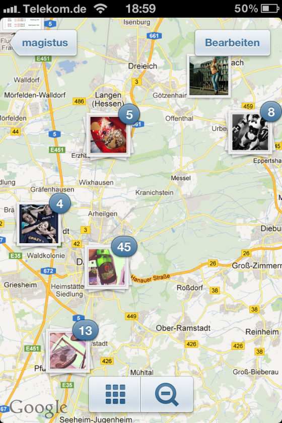Instagram 3.0 - Photo Map - Screenshot