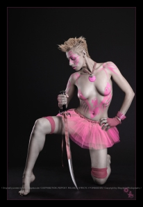 Pink Eagle - Bodypainting Fighter Shooting © by Magistus
