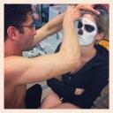 """Making-Of Facepainting """"The Skull"""" - via Instagram App"""
