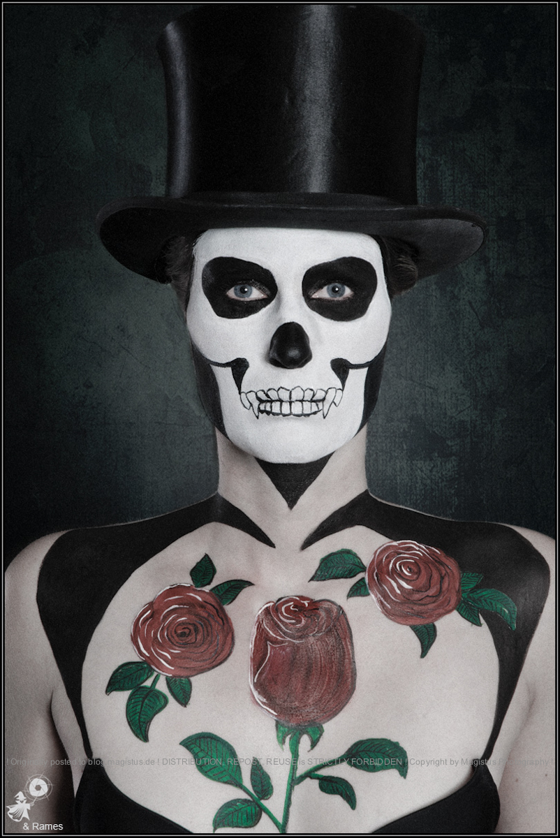 The Skull - Facepainting Portrait - Photo © by Magistus - Painting by Rames