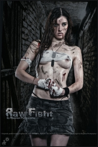 Raw Fight - Erotic Fightergirl Artwork © by Magistus - Backround by © zagorskid - Fotolia