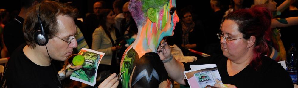 Bodypainting - Video - Farbträume auf Maskerade 2012
