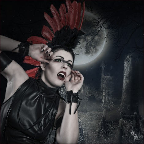 Moon Worship - Dark Fantasy Vampire Composing - Composing © by Magistus - Background by *E-dina - DeviantArt: http://fav.me/d4sb7q8