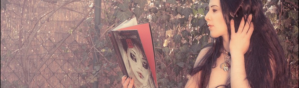 Reading Beauty - Natural Nude Art Shooting with a beautiful naked girl sitting in the nature reading - © by Magistus