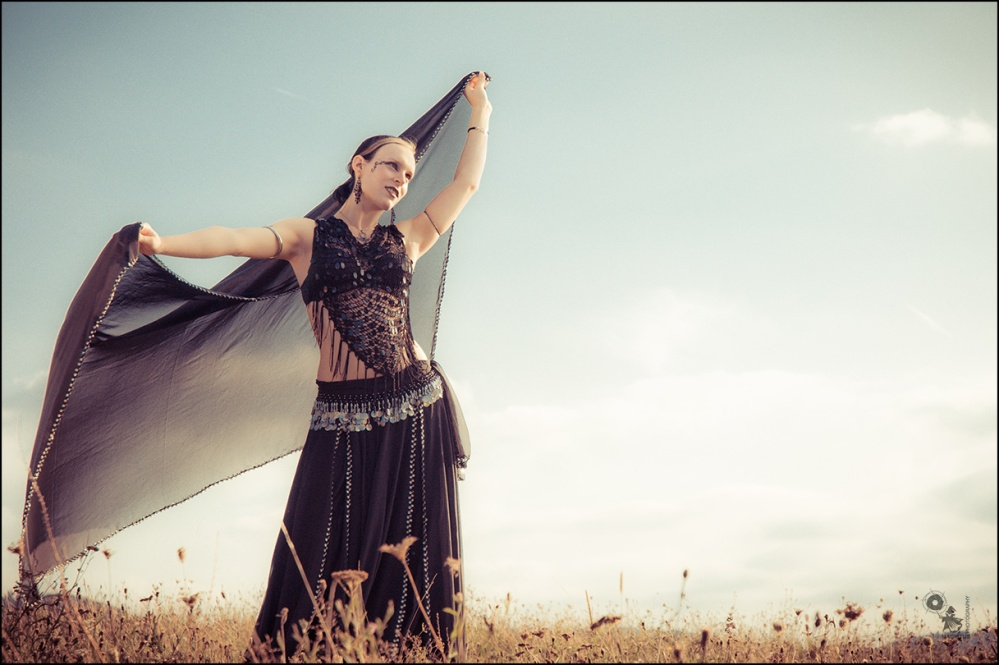 Summer Dancer  - Outdoor Gothic Dancer with beautiful model posing in the sunlight. - © by Magistus