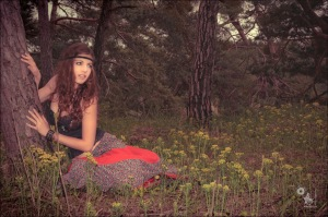 Natural Girl - Outdoor Shooting with a beautiful girl dressed in hippie style posing in the nature - © by Magistus