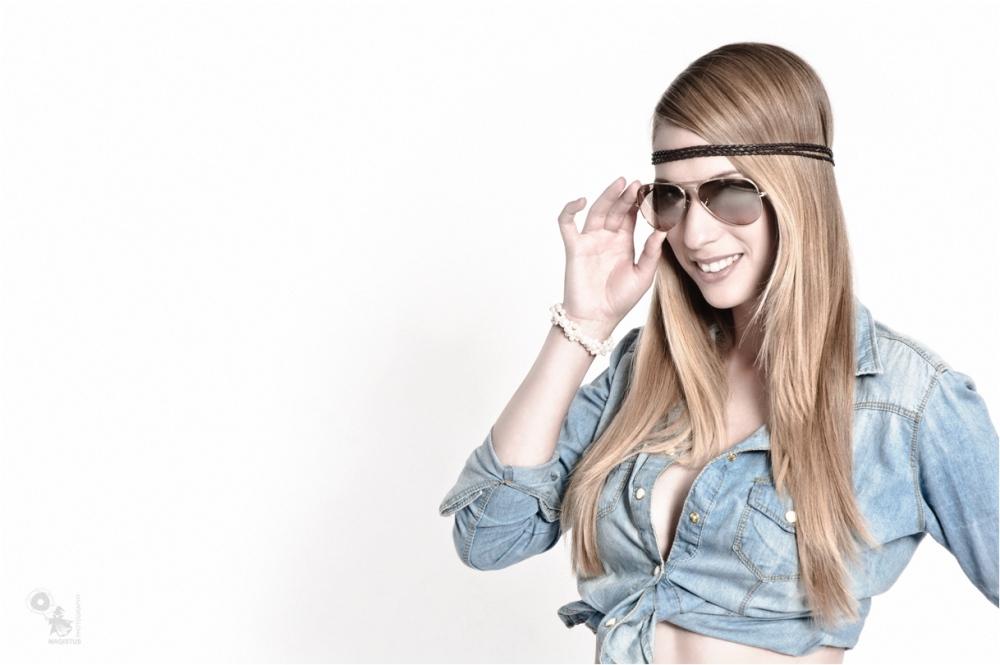 Sunglasses - Sexy Studio Portrait Photoshoot - © by Magistus