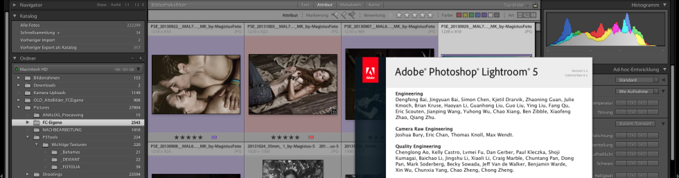 Lightroom 5 Screenshot - Header
