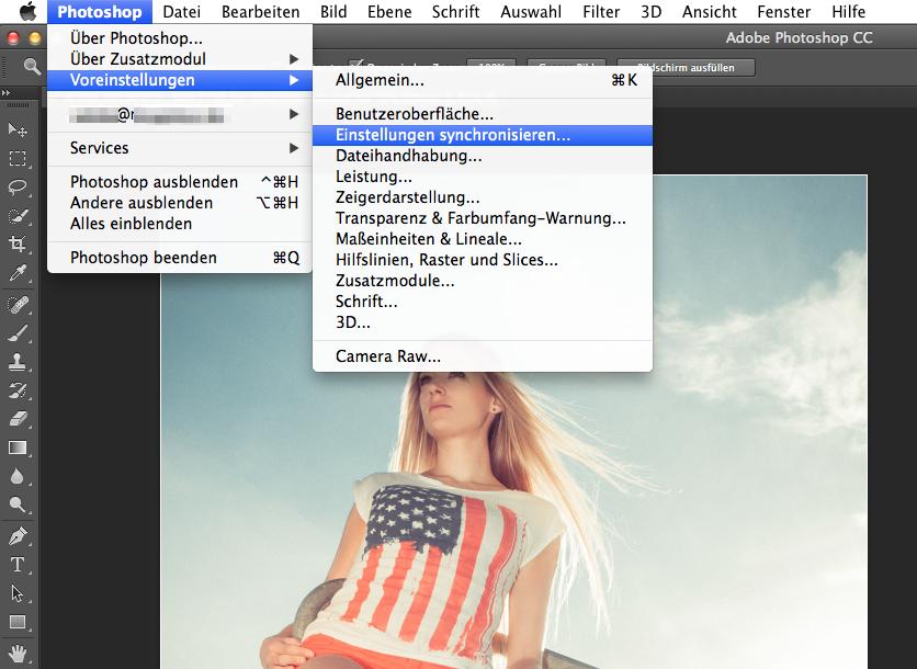 Photoshop CC - Synchronisation - Screenshot