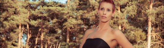 Summer Fashion - Outdoor Photoshoot in the Nature with beautiful women in a black long skirt - © by Magistus