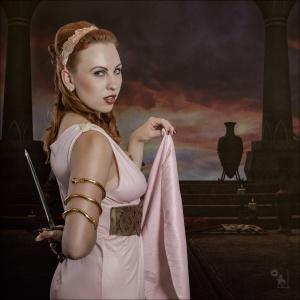 Dangerous Roman Beauty - Spartacus inspired Composing - © by Magistus Fotografie - Background by shd-stock on DA (http://shd-stock.deviantart.com/)