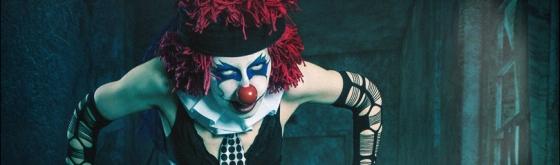 Evil Clown - Horror Clown Composing - Artwork © by Magistus - Backround © by BrownzArt (http://brownzart.wordpress.com/category/stockmaterial/)