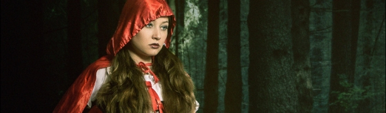 Hunting the Wolfs - Ironic Fightergirl Fantasy Composing of the fairy tale Little Red Riding Hood- © by Magistus