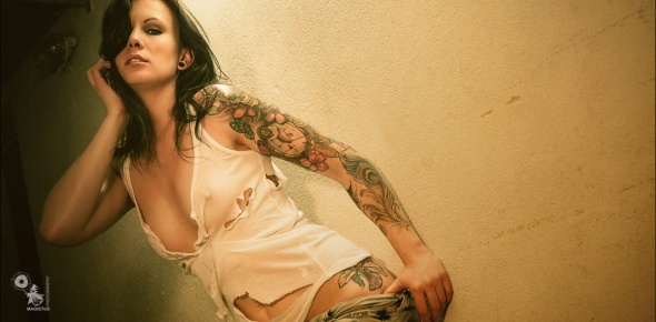 Raw Denim Tattoo - Sexy Wetlook Photoshoot - © by Magistus