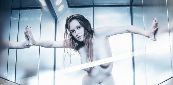 Nude Lightness - Erotic Nude Art Photoshoot in the Elevator - © by Magistus