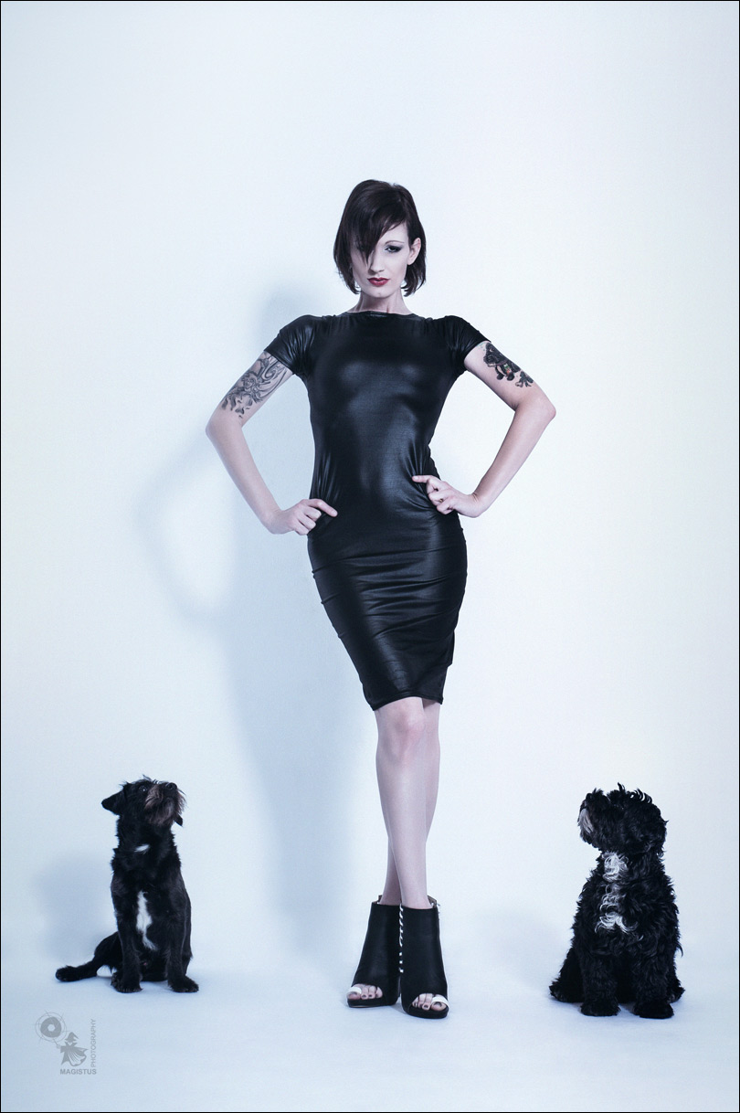 Mistress Friends - Funny and Sexy Fashion Shot with wonderful model Janga and her dogs - © by Magistus
