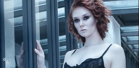 Black Lingerie Fashion - Lingerie OnLocation Photoshoot with fantastic model - © by Magistus