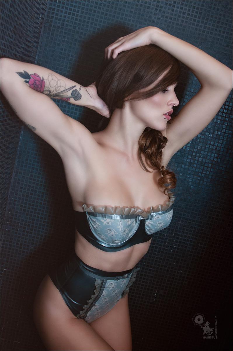 Latex Lingerie Beauty - Fantastic Lingerie Portrait on Location - © by Magistus