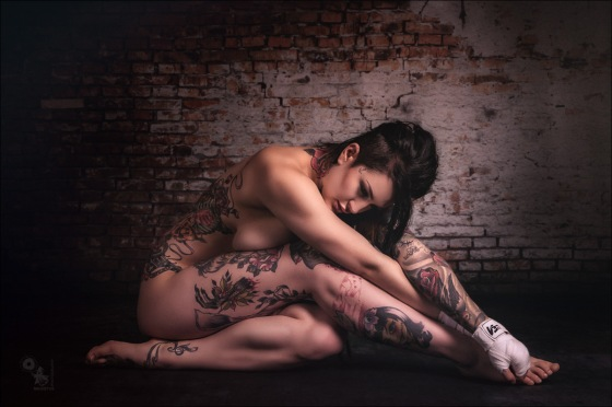 Nude Tattoo Beauty - Nude Photography with Tattoo Model Celina Blanchette - © by MagistusFoto