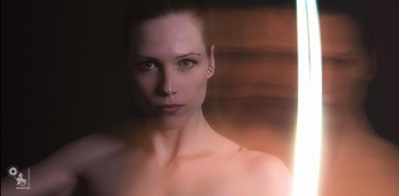 Light Ray - Nude Art Lightpainting Photography - © by MagistusFoto