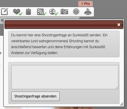 Shootinganfrage Eingabefeld - Model-Kartei.de