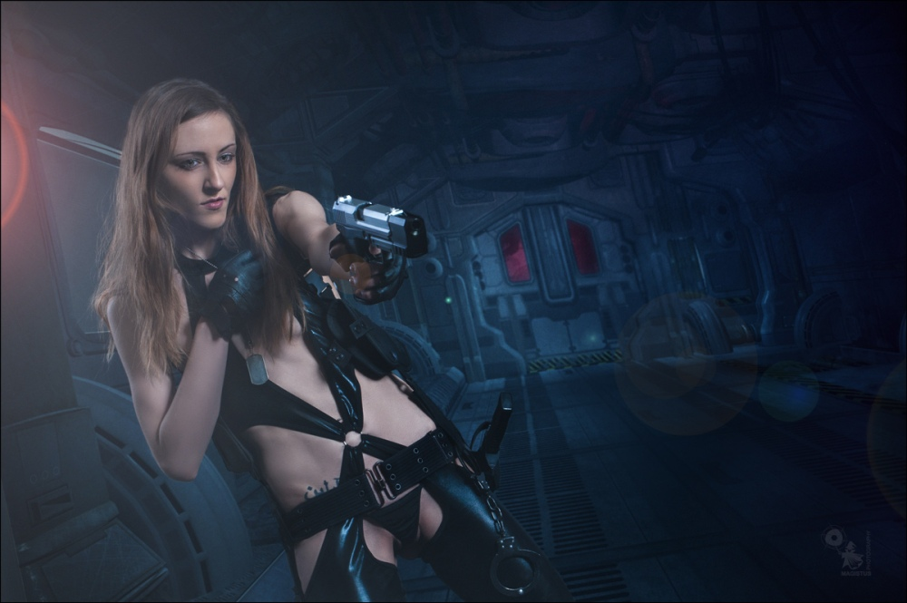 Space Babe - Sexy Fightergirl Composing - © by MagistusFoto