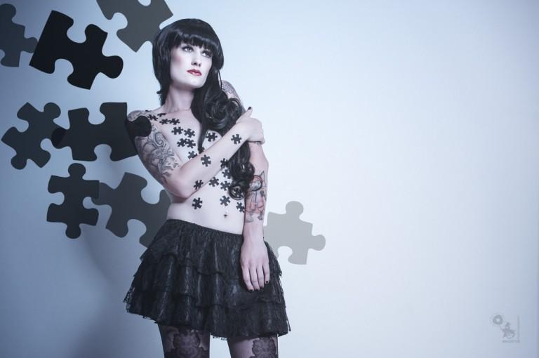 Puzzle - Editorial Nude Art Portrait - © by Magistus